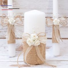 Rustic Wedding Candles Rustic Unity Candle Set Wedding Unity Candle Wedding Unity ideas Wedding Candles with Burlap Linen Roses lace Rustikale Hochzeit Kerzen rustikale Einheit Kerze Set Hochzeit Related posts: Diy Wedding Ideas Wedding Unity Candles, Rustic Candles, Pillar Candles, Ideas Candles, Outdoor Candles, Cottage Wedding, Rustic Wedding, Wedding Country, Wedding Burlap