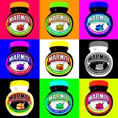 Marmite - can be used for vegan nutrition! This pop art by Chris Jones has been reproduced under Creative Commons Licence. Andy Warhol Pop Art, Pop Art Pour Les Enfants, Pop Art Food, Richard Hamilton, Pop Art For Kids, Kids Canvas Art, Dark Art Photography, La Marmite, Vegan Nutrition