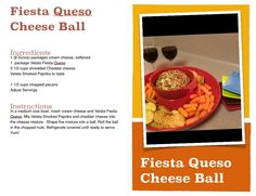 Fiesta Queso Cheese Ball Recipe card for consultants