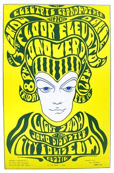 1967.... 13th Floor Elevators .... Conqueroo at City Coliseum in Austin.