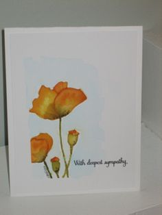 Sympathy by obeewright - Cards and Paper Crafts at Splitcoaststampers Penny Black Cards, Penny Black Stamps, Sympathy Cards, Greeting Cards, Poppy Cards, Watercolor Cards, Scrapbook Cards, Homemade Cards, Cardmaking