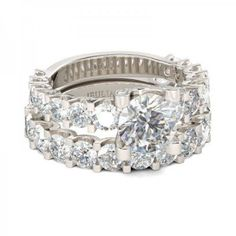 Jeulia Round Cut Created White Sapphire Wedding Set 2.18CT