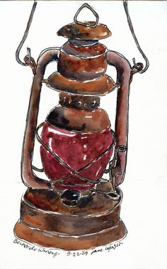from my sketchbook - Lesson 6: Machine made objects - Sketching & Watercolor: Journal Style ~ January 2017