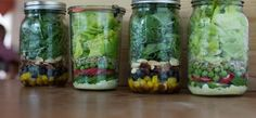 Juicing -plan out juices in mason jars.