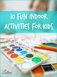 A list of 10 fun indoor winter activities for kids. From cooking together to writing snail mail, there's something for every child.