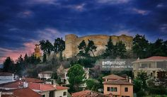 Eastern part of Trikala Castle and the historical clock tower