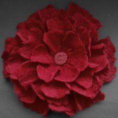 Red+Felt+Flower+Brooch+Handmade+to+Order+by+Brigite+on+Etsy,+$25.00