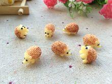 Free Shipping  mini resin hedgehog    model design moss plants  landscape diy Micro landscape decoration Resin handicraft(China (Mainland))