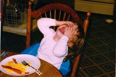 """Awesome website where people post pictures of their crying kids and then explain why they're wigging out. Pretty freaking hilarious. This one? """"We said she couldn't have more bacon.""""  ...well, sounds like you were asking for it."""
