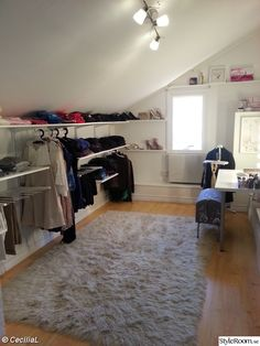 8 Nurturing Clever Tips: Attic Remodel For Kids attic house projects.Attic Closet Built In. Attic Wardrobe, Attic Closet, Attic Playroom, Closet Bedroom, Attic Office, Attic Library, Garage Attic, Wardrobe Storage, Ikea Algot