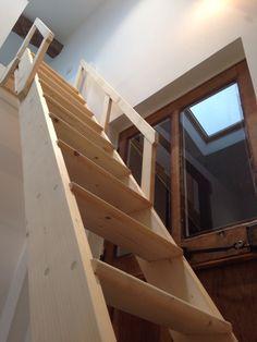 r alisation d une chelle meuni re escamotable en sapin escalier pinterest echelle meunier. Black Bedroom Furniture Sets. Home Design Ideas