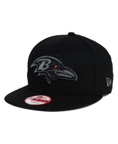 New Era Baltimore Ravens Black Gray 9FIFTY Snapback Cap