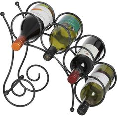 Create a feature of your favourite wines in this metal wine bottle rack, ideal for your compact kitchen or dining room. Countertop Wine Rack, Wine Rack Design, Alcohol Dispenser, Welding Design, Hill Interiors, Steel Sculpture, Wine Bottle Holders, Wine Cabinets, Metal Artwork