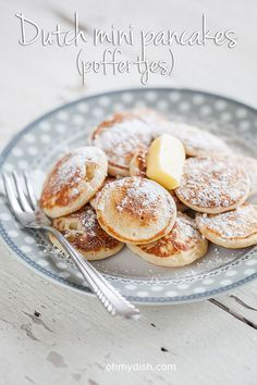What's not to love about pancakes? Especially these Dutch mini pancakes, in Holland we call them poffertjes. Very delicious little fluffy cuteness.