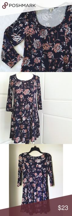 Charlotte Russe Swing Dress This soft and stretchy swing dress is girly and bohemian! How cute would it be with a belt and your favorite boots?! It's NWOT so it's in great condition as it has never been worn. Charlotte Russe Dresses Midi