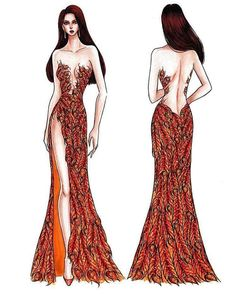 Catriona Gray Miss Universe - Clothing Details 6 Best Picture For fashion sketches coat For Your Tas Dress Design Sketches, Fashion Design Drawings, Fashion Design Sketchbook, Fashion Sketches, Fashion Drawing Dresses, Fashion Illustration Dresses, Fashion Dresses, Star Fashion, Fashion Art
