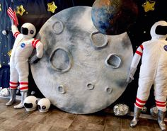 Vbs Themes, Dance Themes, Party Themes, Astronaut Diy, Astronaut Costume, Space Baby Shower, Outer Space Theme, Moon Crafts, Moon Party