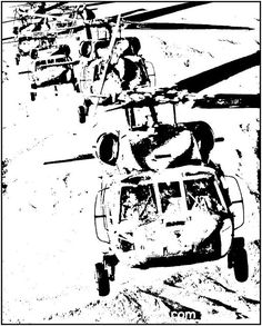 Teen Coloring Sheets. Special Forces, Black Hawk helicopters, Call of Duty Soldiers...