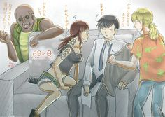 Black Lagoon Fan Art.Hmm,what's the matter with Rock?