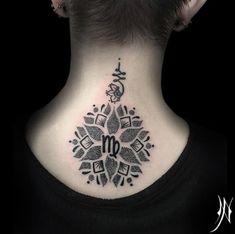 Mandala Virgo design by Nichola Pierpoint