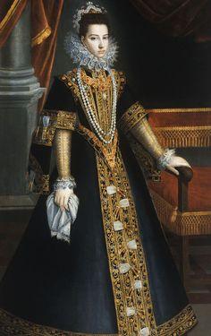 "jaded-mandarin: "" Caterina d'Austria, Century. Elizabethan Clothing, Elizabethan Era, Renaissance Clothing, Tudor, Renaissance Time, 16th Century Fashion, Spanish Dress, Renaissance Portraits, She Walks In Beauty"