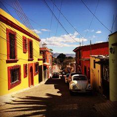 Street in Xochimilco, Oaxaca - Productively Procrastinating