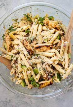 ON THE MENU 109 Healthy Pastas, Healthy Snacks, Healthy Eating, Healthy Recipes, Good Healthy Meals, Healthy Pasta Salad, Pot Pasta, Pasta Dishes, Grilled Chicken Pasta
