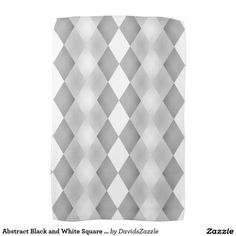 Abstract Black and White Square Pattern Hand Towels  Available on more products! Type in the name of the design in the search bar on my Zazzle Products Page. Thanks for looking!  #abstract #pattern #rectangle #square #black #white #grey #gray #buy #sale #zazzle #art #digital #style #life #lifestyle #accessory #accent #chic #contemporary #modern #home #decor #bathroom #bath #hand #towel
