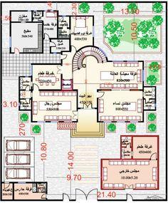 مخطط الفيلا رقم التصميم H4 من مبادرة بيتى 745 متر مربع 7 غرف نوم