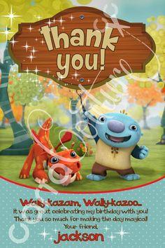Wallykazam Birthday DIY Printable Invitation and by CartaCouture