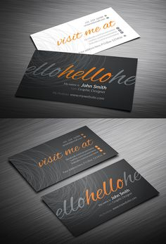 Typography Business Card #businesscards #businesscardtemplates #custombusinesscards