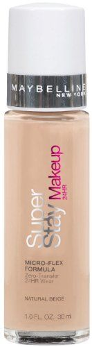 Maybelline New York Super Stay 24Hr Makeup, Natural Beige, 1 Fluid Ounce for only $8.63 You save: $2.36 (21%) + Free Shipping