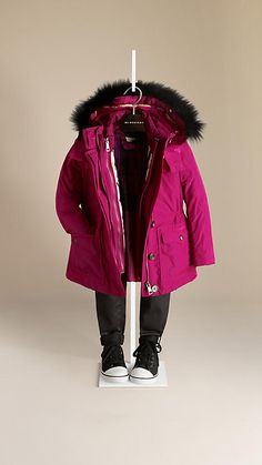 Fur Trim Parka with Removable Warmer Jacket | Burberry