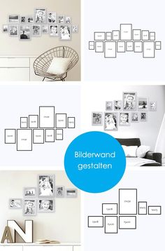 modernes 15er bilderrahmen set bilderw nde gestalten. Black Bedroom Furniture Sets. Home Design Ideas