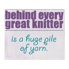 pile of yarn Throw Blanket on CafePress.com