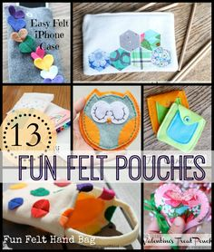 13 fun felt pouches