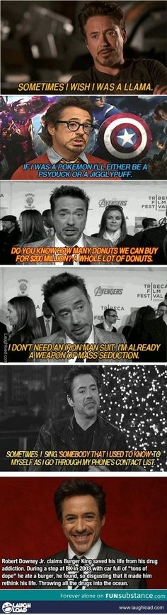 Robert downey jr talks pokemon, donuts, drugs and WEAPON OF MASS SEDUCTION!
