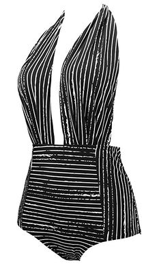 711107577a COCOSHIP Retro One Piece Backless Bather Swimsuit High Waisted Pin Up  Swimwear(FBA) at Amazon Women s Clothing store