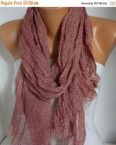 Stars Cotton Scarf Summer Xmas in July Cowl Scarf Gift by fatwoman