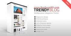 Multipurpose TrendyBlog WordPress Theme is unique, clean, modern super responsive, SEO - Friendly multipurpose theme for forum, news, magazine dynamic blogs