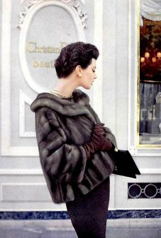 Flickr. Barbara Mullen in mink jacket by Christian Dior