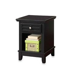 Home Styles Arts & Crafts Night Stand in Black - BedBathandBeyond.com