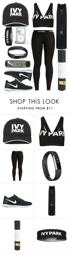 """Exercising like Beyonce"" by prettyorchid22 ❤ liked on Polyvore featuring Ivy Park, Topshop, Fitbit, NIKE, The Upside, LolÃ«, baseballcap and baseballhats"