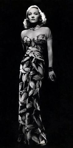 Marlene Dietrich in Travis Banton - 1930's - my edit - @~ Mlle
