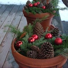 This is the ULTIMATE list of frugal Christmas decorations which includes hundreds of DIY ideas for centerpieces, outdoor decor, ornaments, garlands & more! Frugal Christmas, Christmas Porch, Christmas Wreaths, Christmas Crafts, Christmas Costumes, Gold Christmas, Christmas Planters, Minimal Christmas, Christmas Outfits