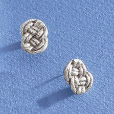 really like these braided knot earrings & love Mignon Faget