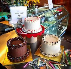Need a last minute treat for the weekend? We've got you covered! 4 inch Baby Cakes available at our San Pablo location today. Stop by and pick one up or call and reserve. #jatgc #bayareaeats #oaklandeats #cakes #birthday #celebration #jamesandthegiantcupcake #yummy