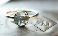 Diamond Ring  Handmade Diamond in by ChincharMaloney