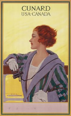 Artist Unknown, Cunard - USA - Canada (woman), c. 1914