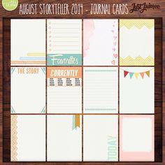 August Storyteller 2014 - Journal Pocket Cards